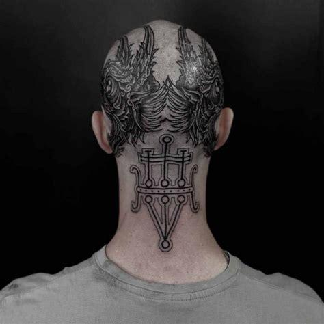 tattoo back of head bald head tattoo best tattoo ideas gallery