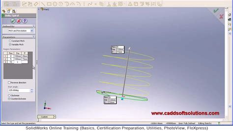 solidworks tutorial helix solidworks helix spiral tutorial curves tutorial youtube