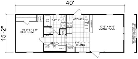 12 X 20 Cabin Floor Plans by Bethany 16 X 40 607 Sqft Mobile Home Factory Expo Home