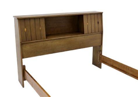 mid century modern bookcase headboard vintage mid century modern bleached walnut bed headboard