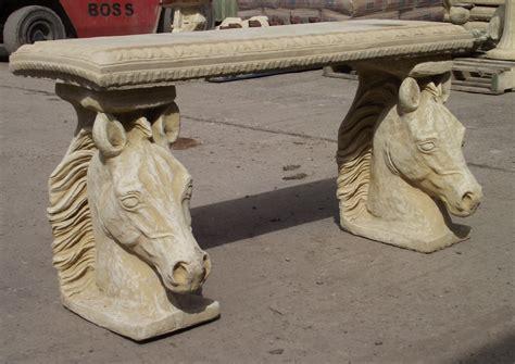 stone top benches stone horse bench with straight top stonecraft stourbridge