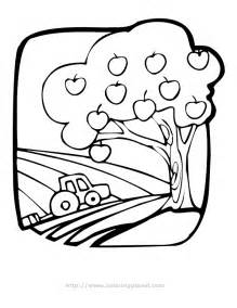apple tree coloring pages for kids kids coloring