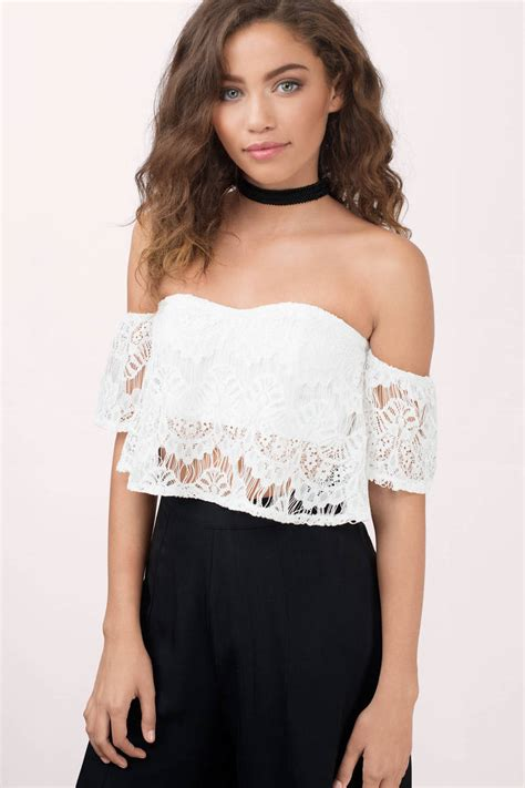 Top Lace Crop ivory crop top white top sweetheart top 12 00