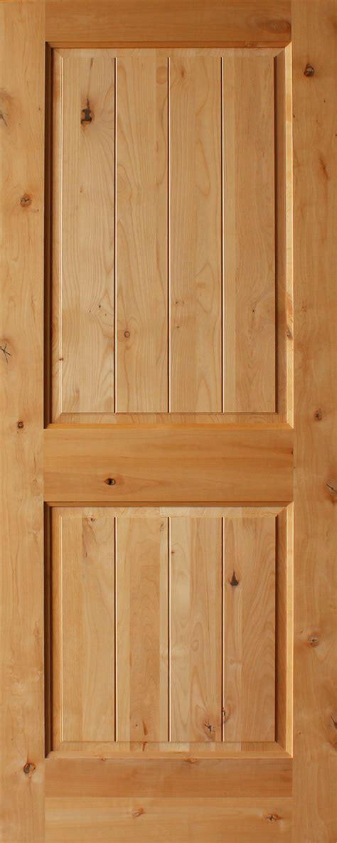 Interior Plank Doors Knotty Alder 2 Panel Plank Square Top Rail 1 3 8 Quot Interior Doors