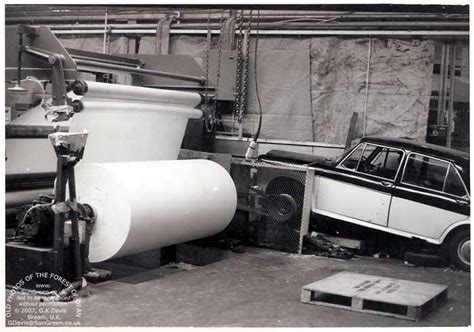 Glos Shed Web by Car Powered Machinery During The 3 Day Week In 1974