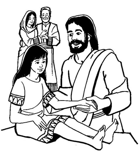 coloring page jesus heals jairus daughter free coloring pages of daughter of jairus