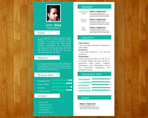 Sample Of One Page Resume by Free Single Slide Resume Template For Powerpoint Free