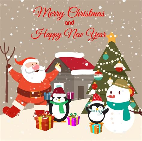 free christmas cards santa claus cards christmas card design with penguins and santa claus free