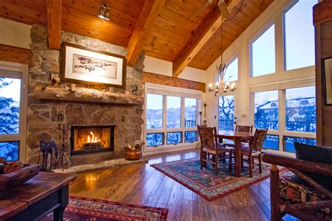ski lodge fireplace ski home in steamboat springs co just steps from the