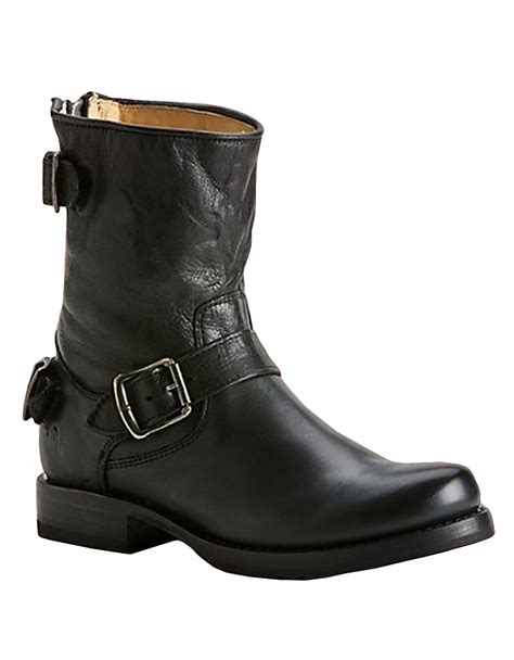 black frye boots frye leather ankle boots in black lyst