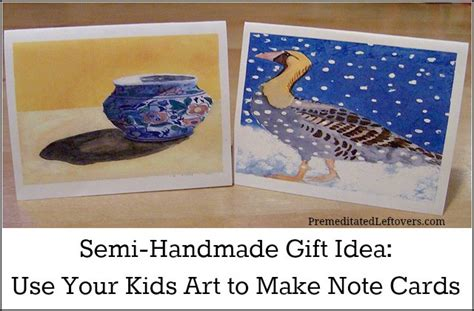 Card Making Gift Sets - use kids art to make note card sets