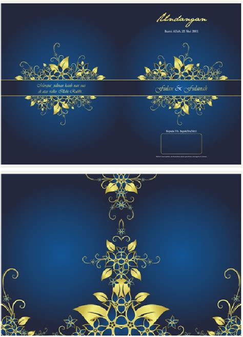 undangan pernikahan bernuansa biru vhe novalia