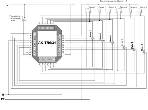 jalousie trennrelais trennrelais f 252 r 6 motoren zentral einzelsteuerung hutschiene