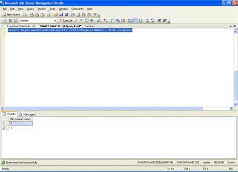 exist tutorial xml database sql server performance working with xml data in sql server