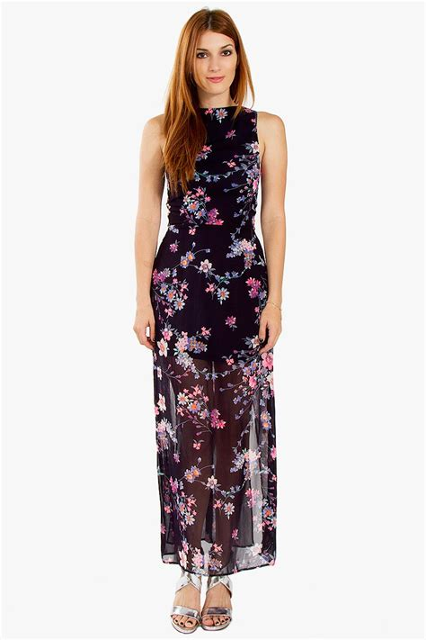 Flower Maxy floral maxi dress from rhea et cetera ds csd40372
