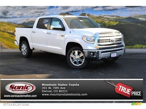 Toyota Tundra Colors 2015 White Toyota Tundra 1794 Edition Crewmax 4x4