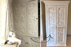 Blogger lizzy gives her second hand cupboard a decorative touch using