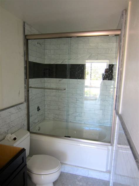 Installation Of Shower Doors Bypass Shower Door Install Patriot Glass And Mirror San Diego Ca
