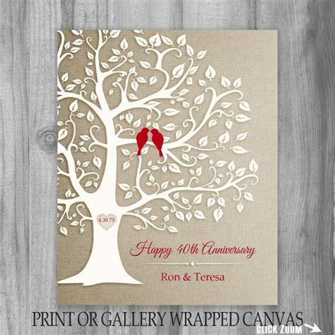 Golden Wedding Anniversary Gift Ideas For Parents by 40th Anniversary Gift Golden Anniversary Print Gift