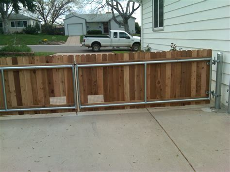 Office Depot Hours Arvada 42 Wood Gate With Steel Posts And Framework Installed In