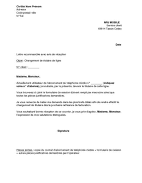 Nrj Mobile Lettre De Résiliation Modele Resiliation Nrj Mobile Document