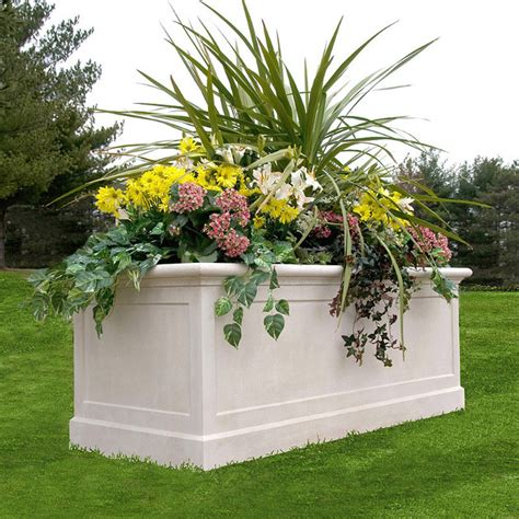 Traditional Planters by Promenade Trough Planter Traditional Indoor Pots And