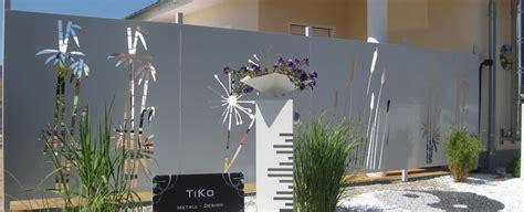 designer sichtschutz sichtschutz aus metall ganz individuell tiko metalldesign