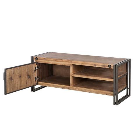 oga home design products lowboard industrial akazie massivholz tv unterschrank