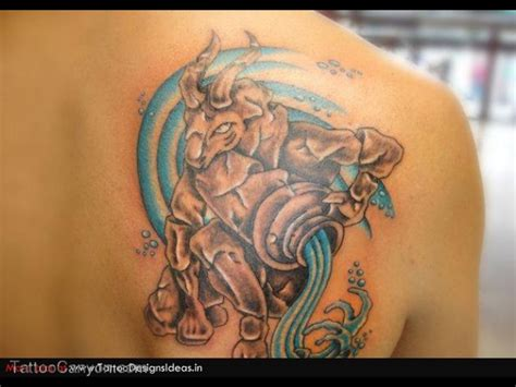 water bearer tattoo designs aquarius tattoos and designs page 32