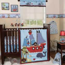 blue nautical pirate themed baby boy sea monkey 3p