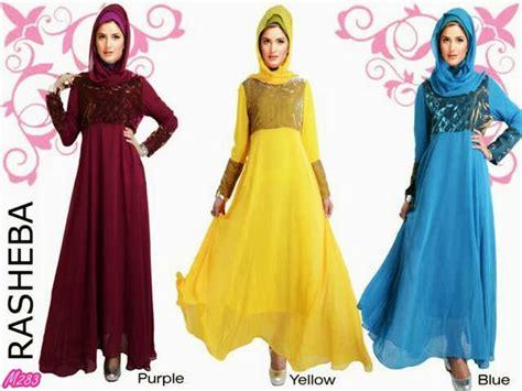 Gamis Abaya Modis Benari Maxy Import busana muslim gamis rasheba kode baju m283 harga 190 000 idr model pakaian rasheba
