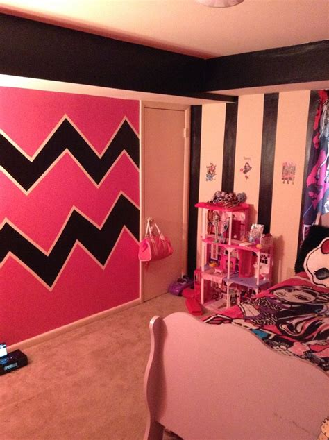monster high bedrooms monster high themed bedroom zigzags and stripes done by