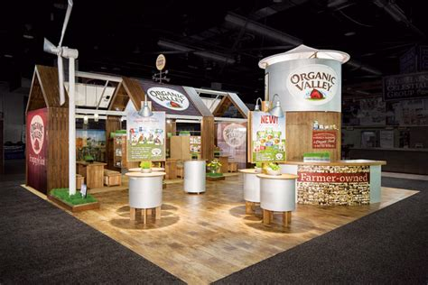 exhibition themes list organic valley mg design created a traveling barn theme