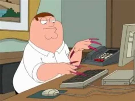 Long Nails Meme - family guy peter griffin with acrylic nails youtube