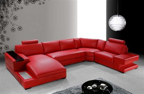 modern red leather couch modern red leather sectional sofa