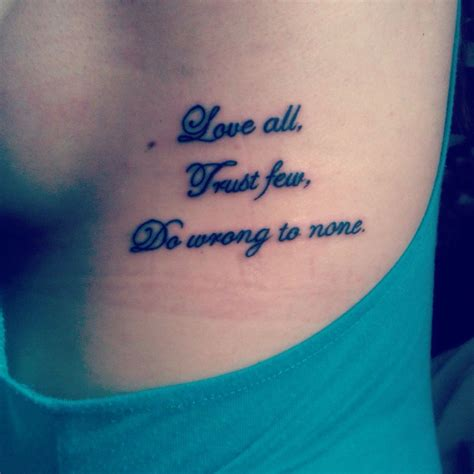 trust none tattoo quot all trust few do wrong to none quot
