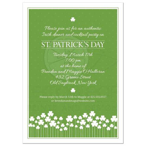day invitations st patricks day invitation shamrock garden