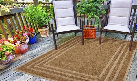 tappeti outdoor tappeto outdoor border beige webtappeti it