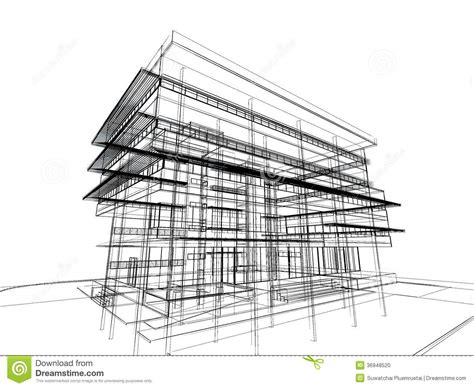 pencil drawings buildings building sketch stock photos sketch design of building stock illustration image of