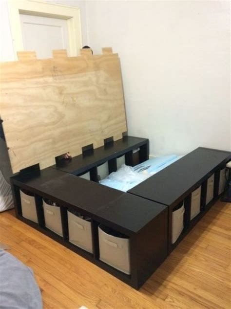 diy bed frame with storage diy kids bed frame with storage