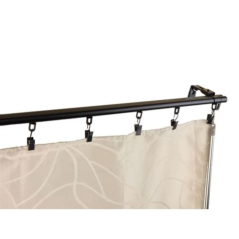 ceiling track curtain rods rod desyne 48 in 84 in armor adjustable baton draw