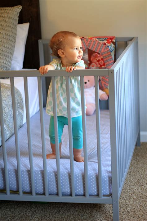 Transition Co Sleeper To Crib by Diy Co Sleeper Review One Year Later Amanda Medlin