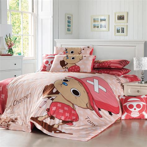 cartoon anime one piece tony chooper bedding sets 4pc