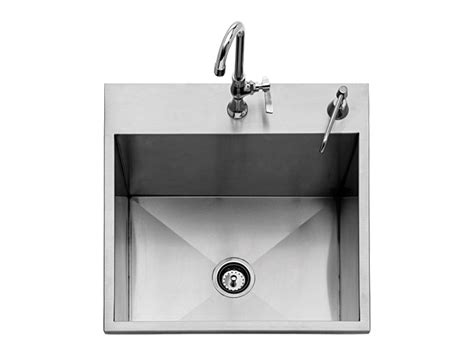 Outdoor Kitchen Sinks And Faucet Eagles 24 Inch Outdoor Sink W Faucet Soap Dispenser