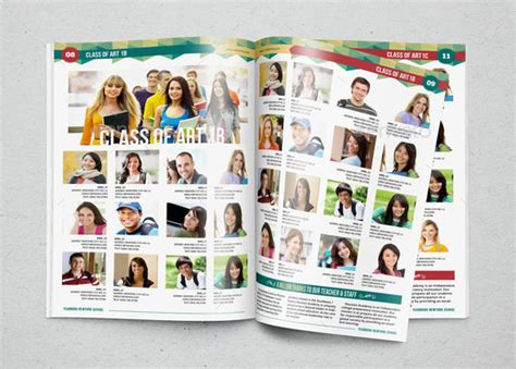 Yearbook Template Design Vol 1 By Hiro27 Graphicriver Yearbook Templates Publisher