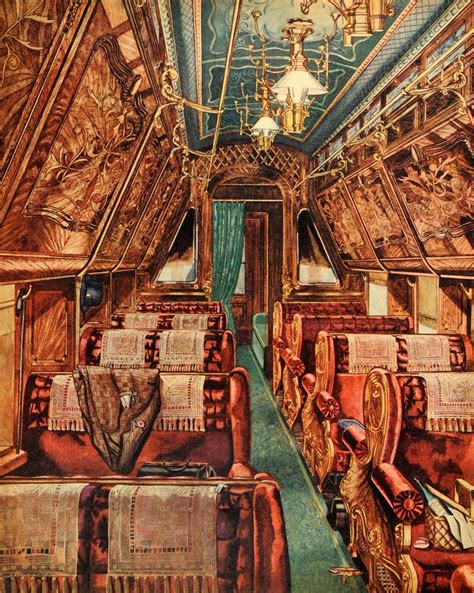 perkins upholstery 1944 print perkins harnley interior sleeping car parlor