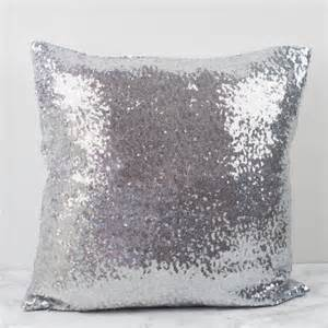 Silver Sequin Cushion Sequin Glitter Cushion Cover By Magpie Decor