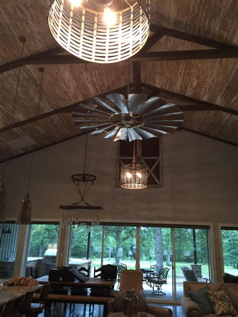 statement ceiling fans fixer upper windmill decor the harper house
