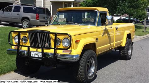 jeep truck for sale 1975 mellow yellow j20 jeep 1