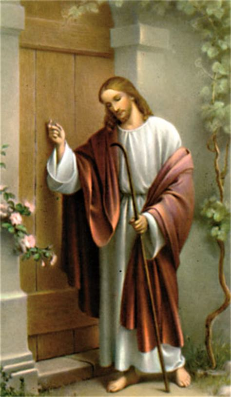 Jesus Knocking At The Door Meaning by Mini Holy Card Jesus Knocking On Door El Camino Real